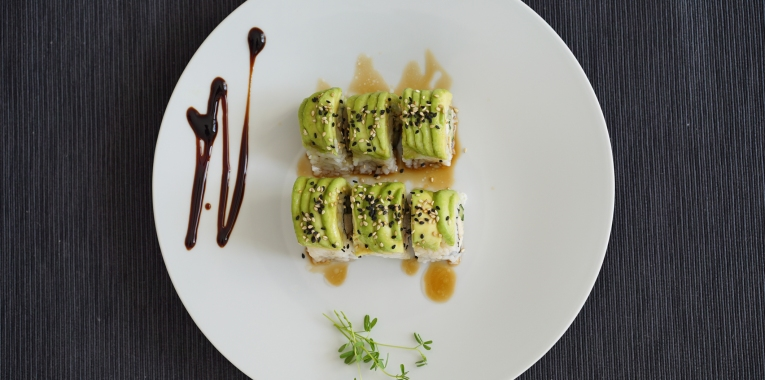 Sushi Recipe - Uramaki Chicken Teriyaki with Avocado
