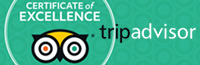 Certificate of Excellence by TripAdvi